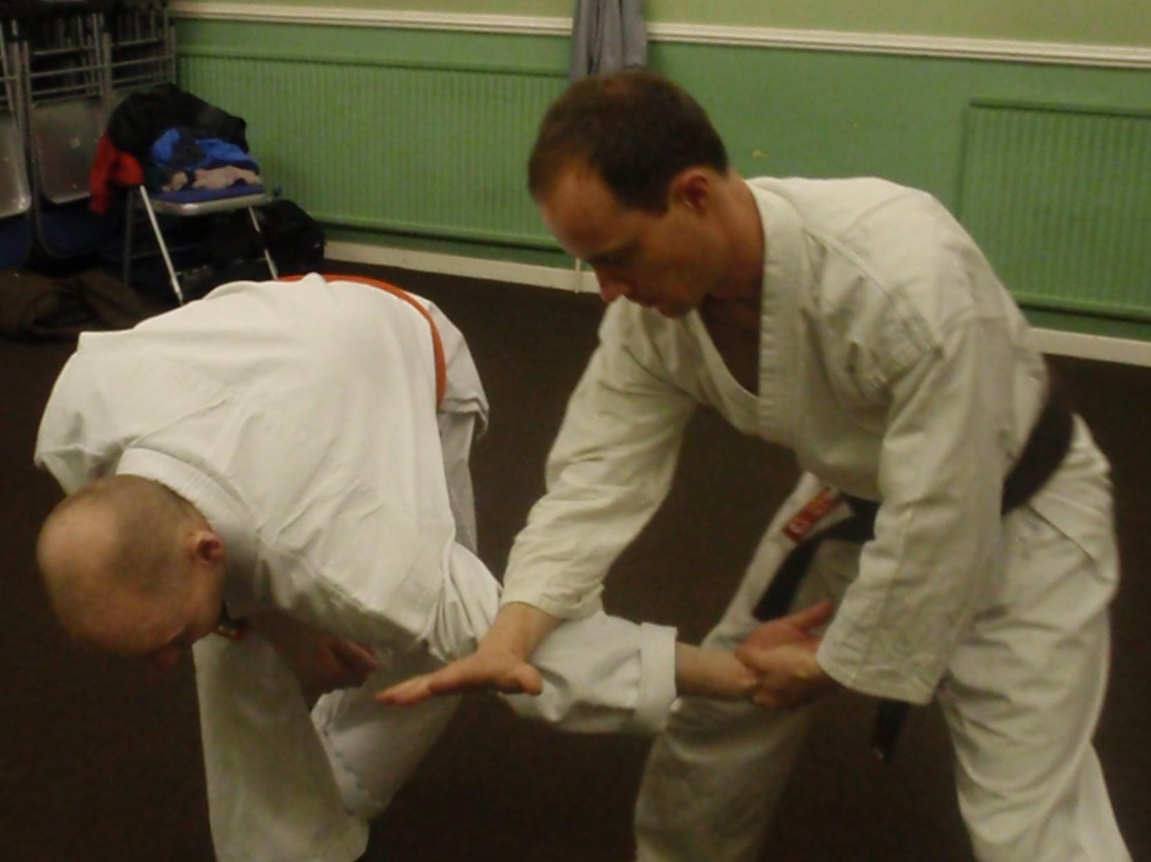 A joint-lock/takedown taught by Funakoshi in the 1920's